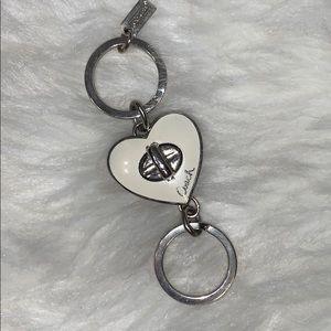 Coach Heart Keychain